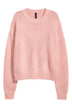 Textured-knit Sweater - Light pink - Ladies | H&M CA