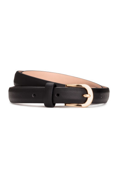 Narrow belt - Black - Ladies | H&M CN