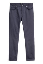 Satin trousers Slim fit - Dark blue - Men | H&M 2