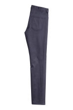Satin trousers Slim fit - Dark blue - Men | H&M 3