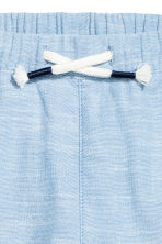 Pull-on cotton trousers - Light blue marl - Kids | H&M CN 2