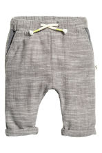 Pull-on cotton trousers - Grey marl - Kids | H&M 1