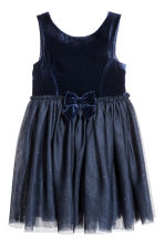 Tulle dress - Dark blue - Kids | H&M CN 2