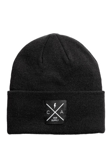 Fine-knit hat - Black - Men | H&M CN