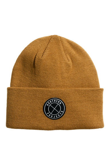 Fine-knit hat - Light ochre - Men | H&M CN
