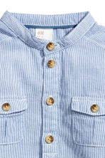 Grandad-collar cotton shirt - Blue - Kids | H&M 2
