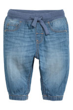 Denim pull-on trousers - Blue - Kids | H&M 1