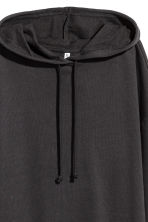 Hooded sweatshirt dress - Black - Ladies | H&M 3