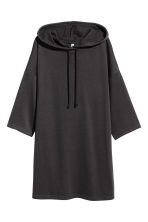 Hooded sweatshirt dress - Black - Ladies | H&M 2