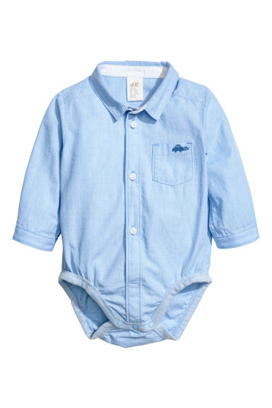 Shirt bodysuit - Light blue marl -  | H&M CN 1