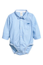 Shirt bodysuit - Light blue marl - Kids | H&M CA 1