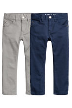 2-pack Trousers Regular fit - Dark blue/Grey - Kids | H&M CN 2