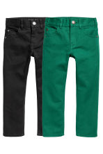 2-pack Trousers Regular fit - Black/Green -  | H&M CN 2