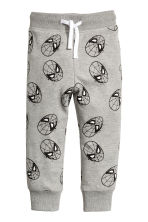 Patterned joggers - Grey/Spiderman - Kids | H&M CN 2