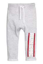 Sweatpants with a print - Light grey/RUN DMC - Kids | H&M 2