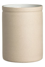 Stoneware jar - Natural white - Home All | H&M CN 1