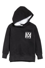 Printed hooded top - Black/Marcus & Martinus - Kids | H&M CN 2