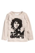 图案汗布上衣 - 浅褐色/The Doors - Kids | H&M CN 2