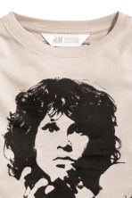 T-shirt en jersey - Taupe clair/The Doors - ENFANT | H&M FR 3