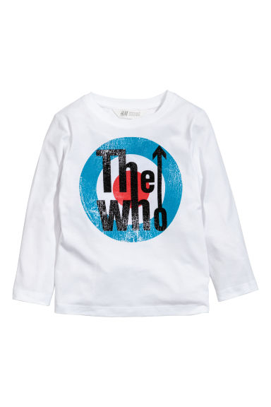 T-shirt en jersey - Blanc/The Who - ENFANT | H&M CA