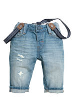 Jeans with braces - Light blue - Kids | H&M 1