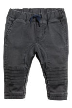 Biker trousers - Dark grey - Kids | H&M 1
