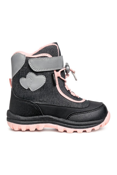 Waterproof boots - Black marl/Light pink - Kids | H&M