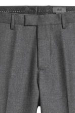 Pantalon de costume Slim fit - Gris chiné - HOMME | H&M FR 4