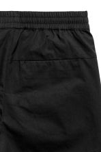 Short cotton-blend shorts - Black - Men | H&M 3