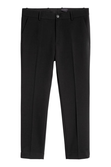 Slim suit trousers - Black - Men | H&M