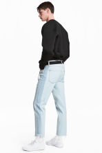 Jeans with side panels - Light denim blue - Men | H&M 4
