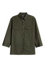 Utility shirt - Dark khaki green - Men | H&M CN 2