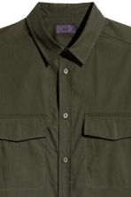 Utility shirt - Dark khaki green - Men | H&M 4