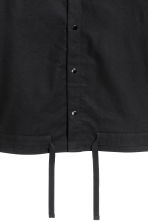 Drawstring cotton shirt - Black - Men | H&M 3