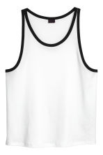 Wide vest top - White - Men | H&M 2