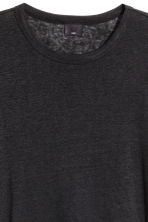 Linen jersey T-shirt - Black - Men | H&M 3