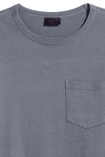 Wide T-shirt - Grey-blue - Men | H&M IE 2
