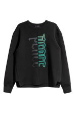 Scuba sweatshirt - Black/Text - Men | H&M CN 2
