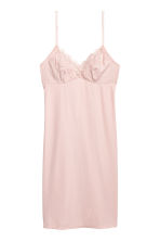 Ribbed microfibre nightslip - Light pink - Ladies | H&M CN 2