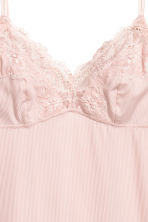 Ribbed microfibre nightslip - Light pink - Ladies | H&M CN 3