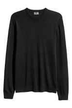 Jumper in a linen blend - Black - Men | H&M 2