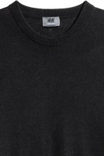 Jumper in a linen blend - Black - Men | H&M 3
