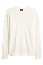 Jumper in a linen blend - White - Men | H&M CN 2