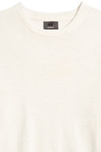 Jumper in a linen blend - White - Men | H&M 3