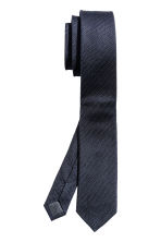 Textured silk tie - Dark blue - Men | H&M CN 2