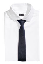 Textured silk tie - Dark blue - Men | H&M CN 1