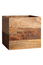 Large wooden box - Natural - Home All | H&M GB 1