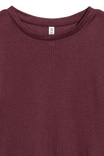 Ribbed jersey top - Burgundy - Ladies | H&M 3