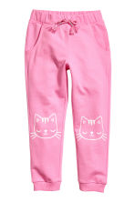 Sweatpants - Pink/Cats -  | H&M 2