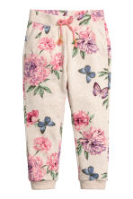 Sweatpants - Light beige/Floral - Kids | H&M 2